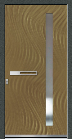 AMUR Optik: Eloxal Bronze C-33/Schliffbild Fine, Glas REFLO