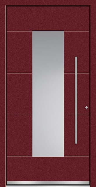 DACO Flachnuten außen, vollflächiges Sandstrahlglas, Stangengriff Edelstahl 1000 mm