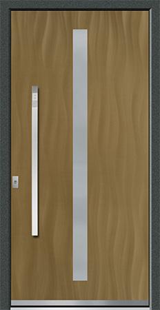 MOLDAU Optik: Eloxal Bronze C-33/Schliffbild Medium, Glas BONN