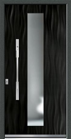 VALIRA Optik: Eloxal Schwarz C-35/Schliffbild Medium, Glas BONN
