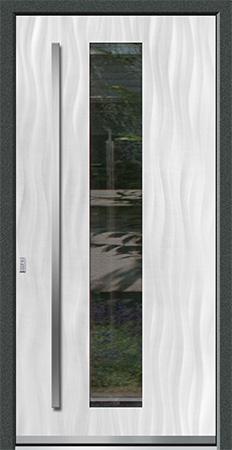 VALIRA Optik: Eloxal Silber C-0/Schliffbild Medium, Glas KLARGLAS
